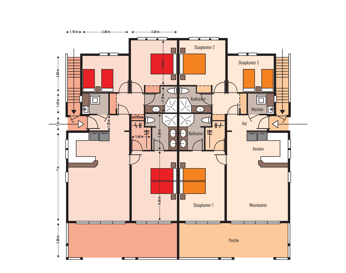 MasBango Beach Resort Begane Grond Floorplan