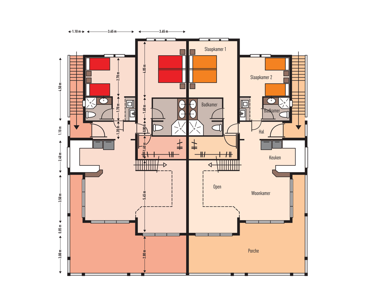 MasBango Beach Resort Penthouse Floorplan - Main Floor