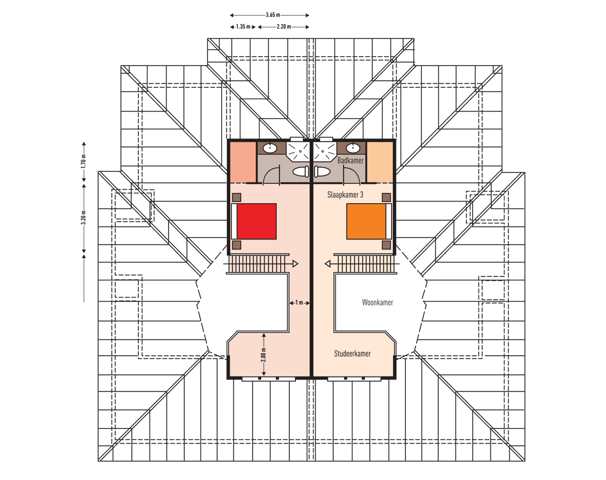MasBango Beach Resort Penthouse Floorplan - Loft