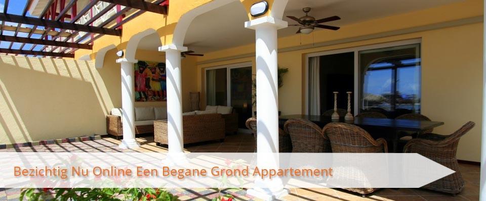 Bezichtig Nu Online Een Begane Grond Appartement Op MasBango Beach Resort in Jan Thiel Curaçao